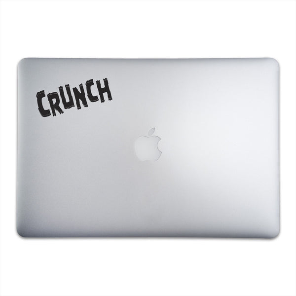 CRUNCH Sticker for MacBooks and Apple Devices On A 15-Inch Macbook Pro