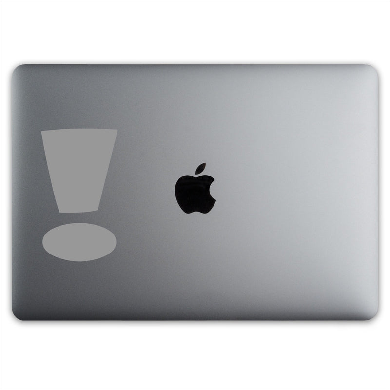 Exclamation Point Sticker for MacBooks and Apple Devices - Whipps Sticker Co.