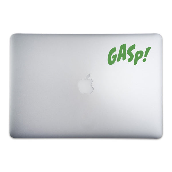 GASP! Sticker for MacBooks and Apple Devices On A 15-Inch Macbook Pro