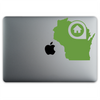 Green Bay Wisconsin Home Sticker On A 12-Inch Macbook