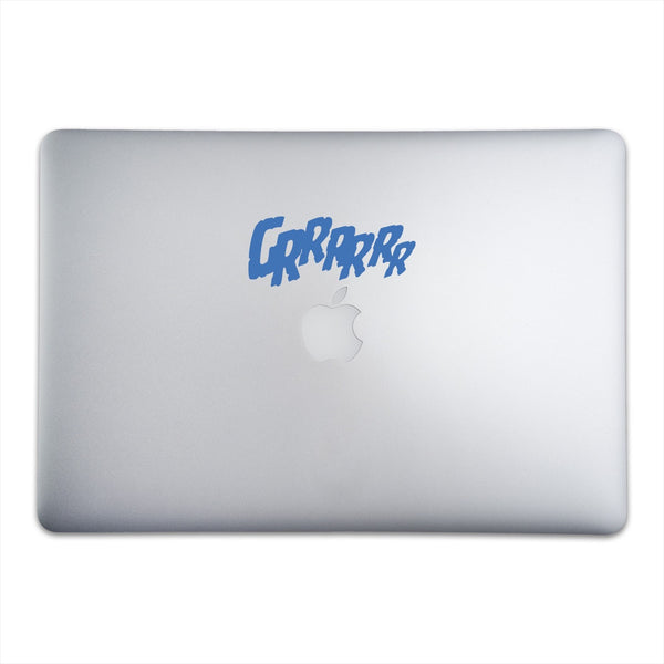 GRRRRRR Sticker for MacBooks and Apple Devices On A 15-Inch Macbook Pro