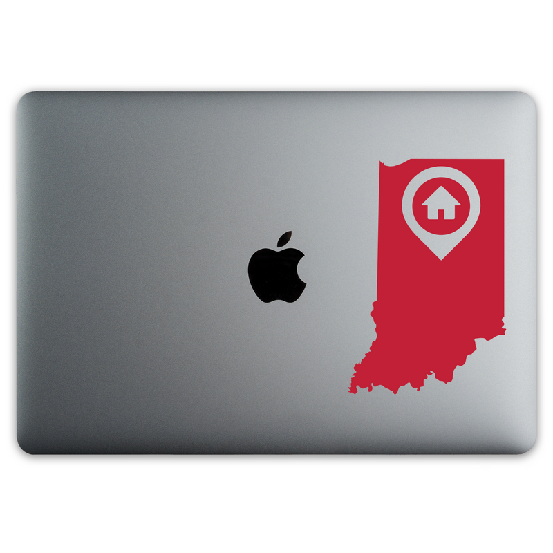 Indianapolis Indiana Home Sticker for MacBooks and Apple Devices - Whipps Sticker Co.