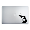 Michigan Love Sticker On A 15-Inch Macbook Pro
