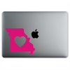 Missouri Love Sticker On A 12-Inch Macbook