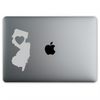 New Jersey Love Sticker On A 12-Inch Macbook