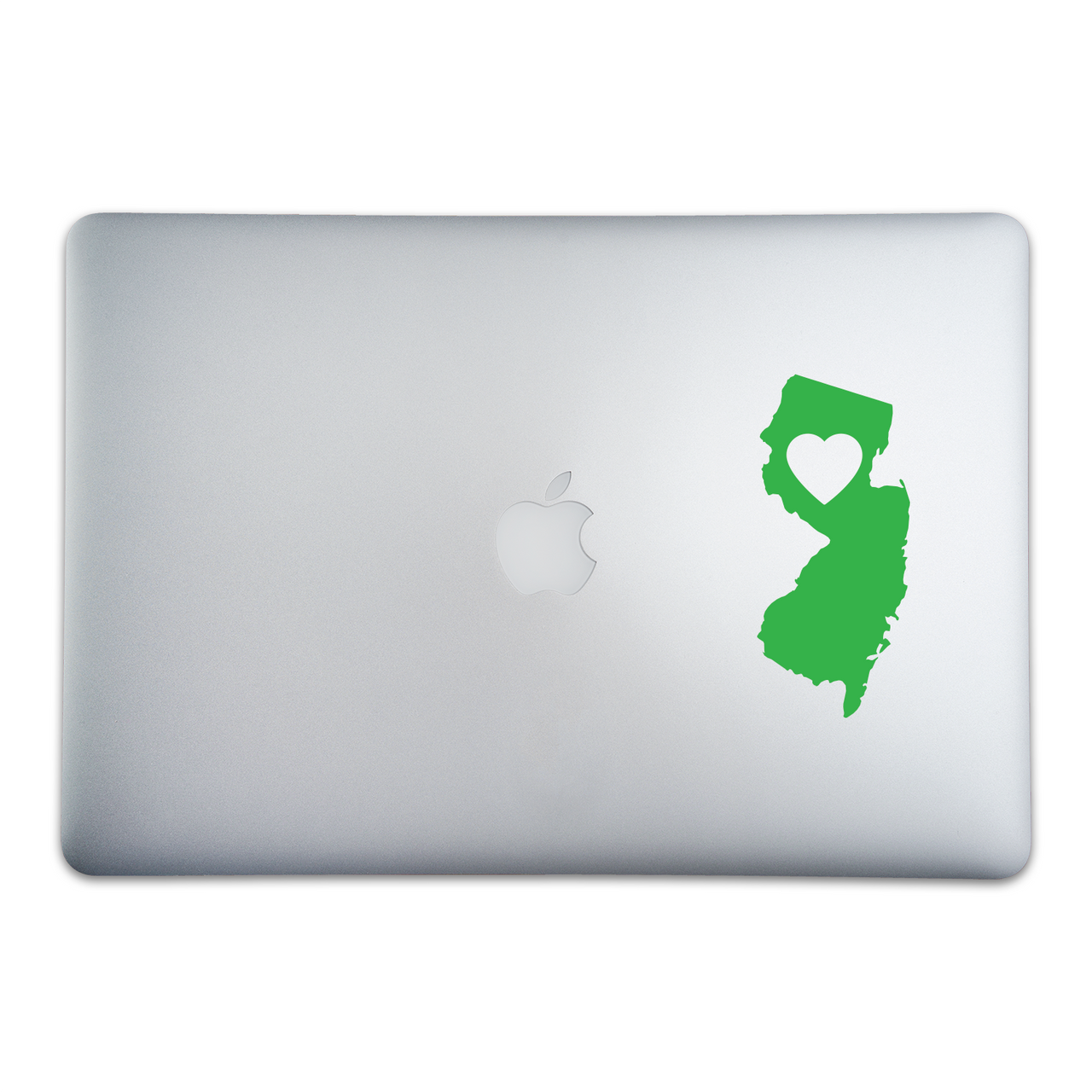 New Jersey Love Sticker On A 15-Inch Macbook Pro