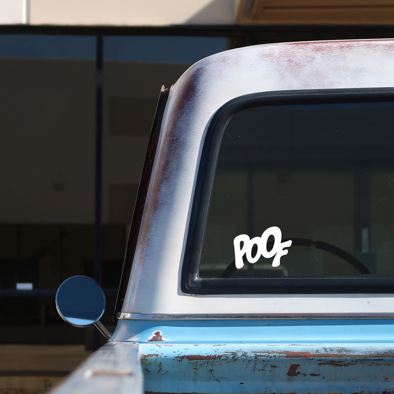 POOF Sticker for Cars and Trucks On A 1968 Chevrolet C-10