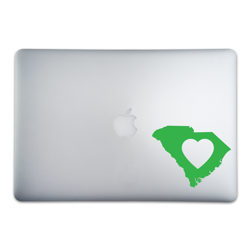 South Carolina Love Sticker On A 15-Inch Macbook Pro