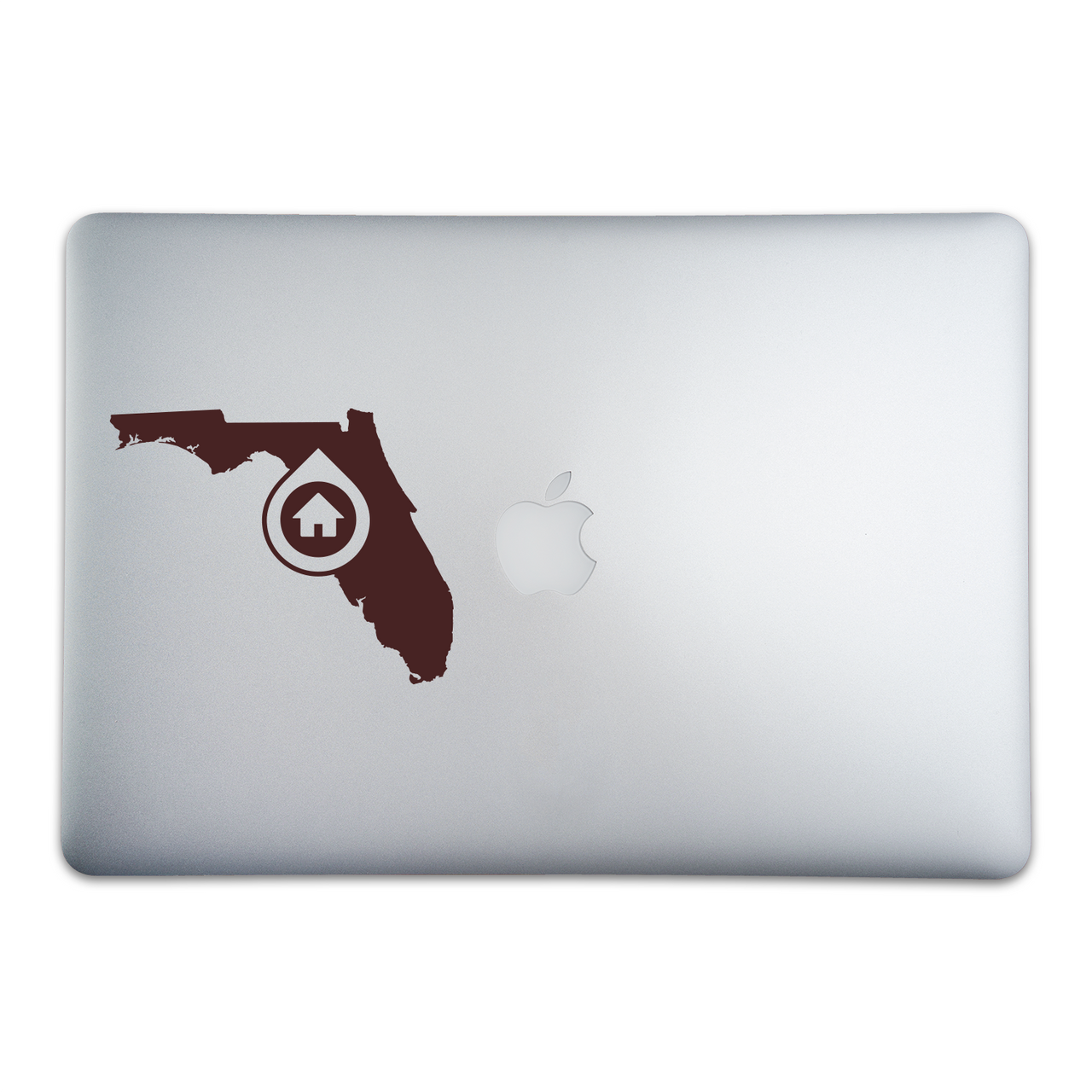 Tallahassee, Florida Home sticker on a 15-inch MacBook Pro