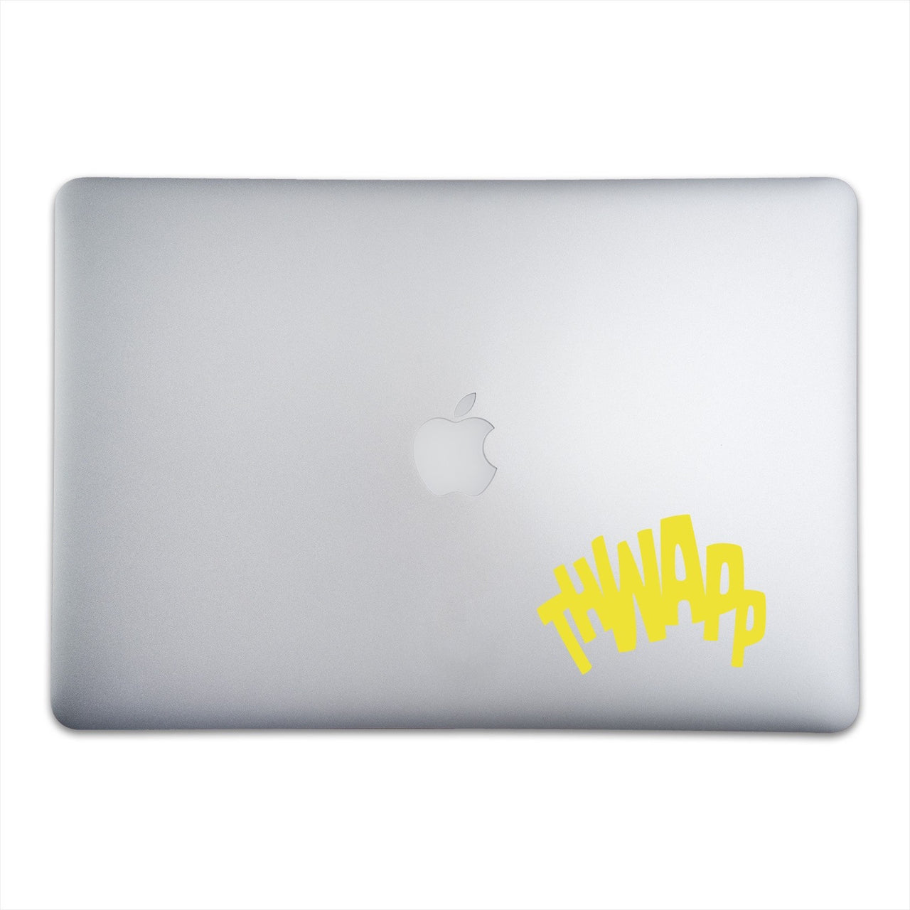 THWAPP Sticker for MacBooks and Apple Devices On A 15-Inch Macbook Pro