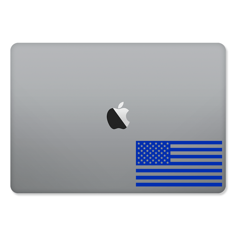 usa flag sticker on a 2016 15-inch macbook pro