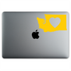 Washington State Love Sticker On A 12-Inch Macbook