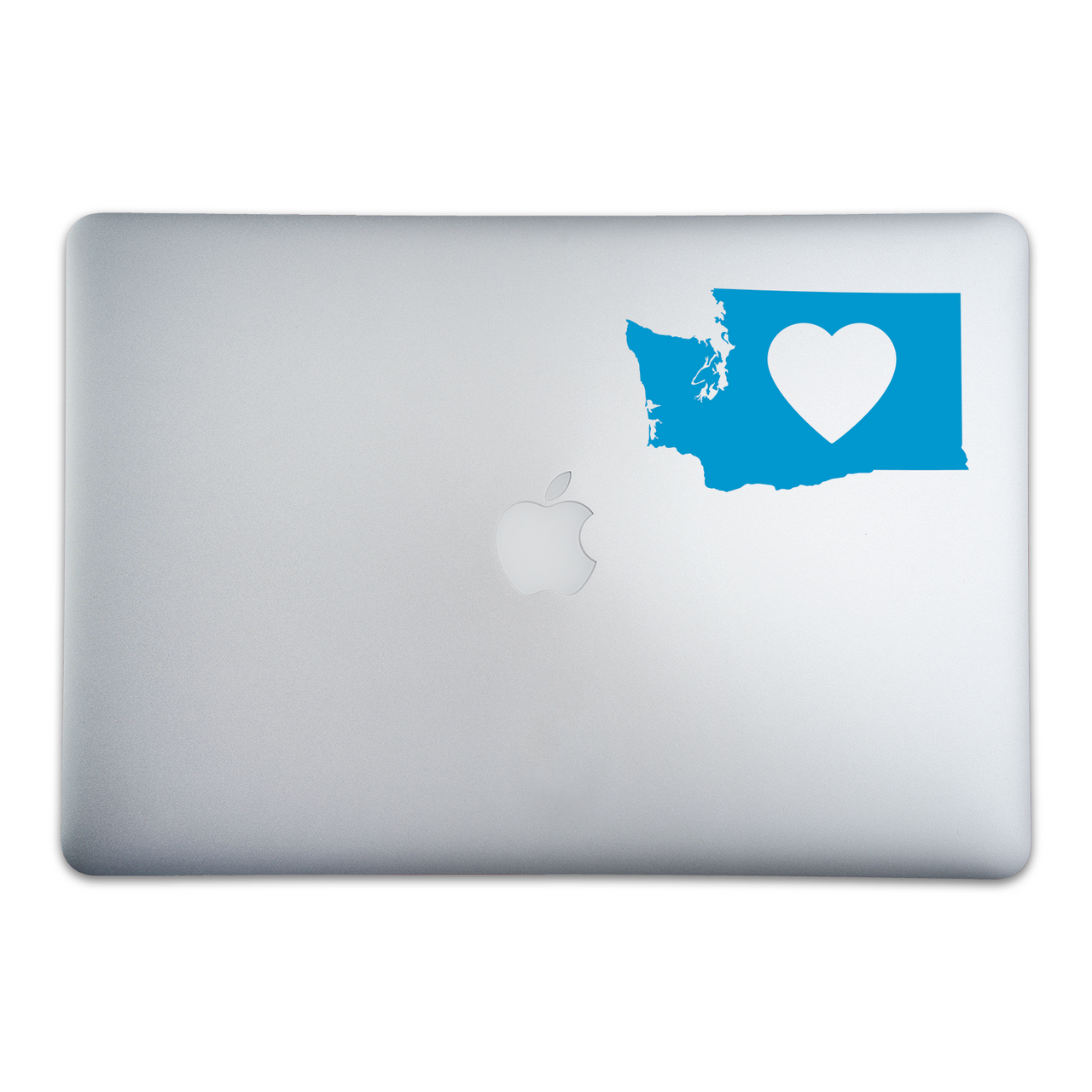 Washington State Love Sticker On A 15-Inch Macbook Pro