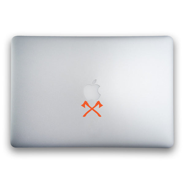 Crossed Axes Sticker for MacBook, MacBook Air and MacBook Pro - Whipps Sticker Co.