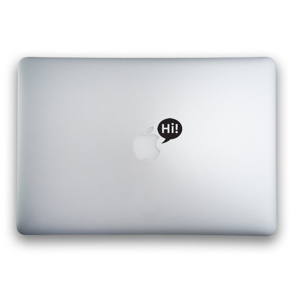 Hi Bubble for MacBook, MacBook Pro, MacBook Air and iPad - Whipps Sticker Co.
