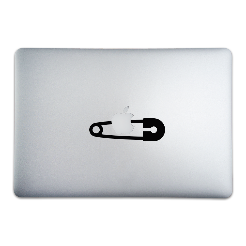 Safety Pin MacBook Apple Sticker