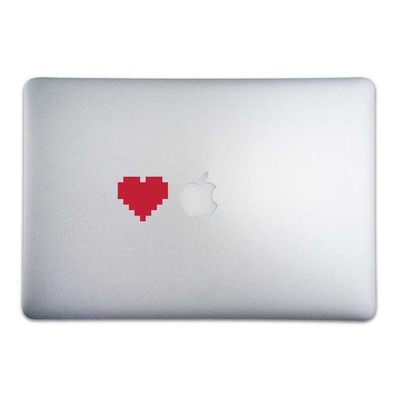 8-Bit Heart Sticker for MacBooks and Apple Devices - Whipps Sticker Co.