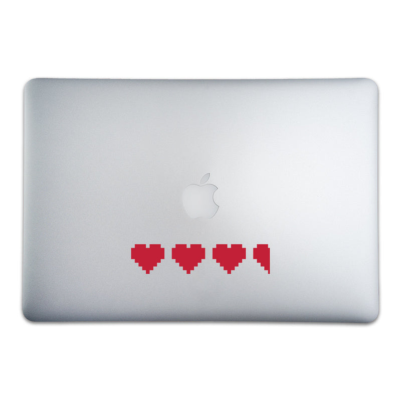 3 1/2 8-bit Hearts Sticker for MacBooks and Apple Devices - Whipps Sticker Co.