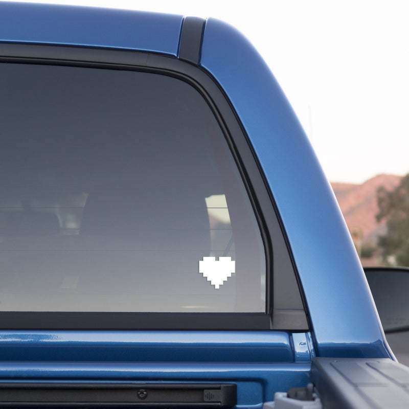 8-Bit Heart Sticker for Cars and Trucks