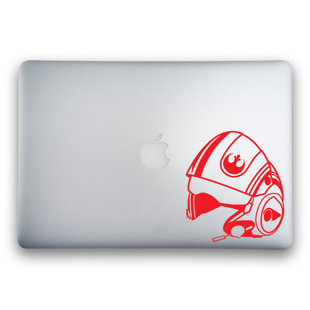 Poe Dameron's X-Wing Helmet from Star Wars: The Force Awakens Sticker - Whipps Sticker Co.