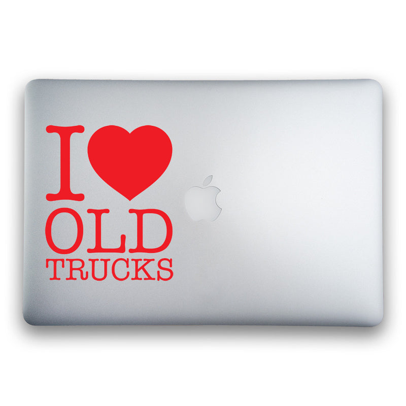I Love Old Trucks 5-Inch Sticker for MacBooks and Apple Devices - Whipps Sticker Co.