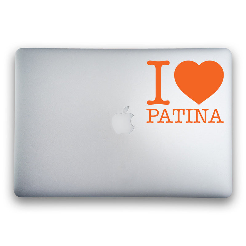 I Love Patina Sticker for MacBooks and Apple Devices - Whipps Sticker Co.