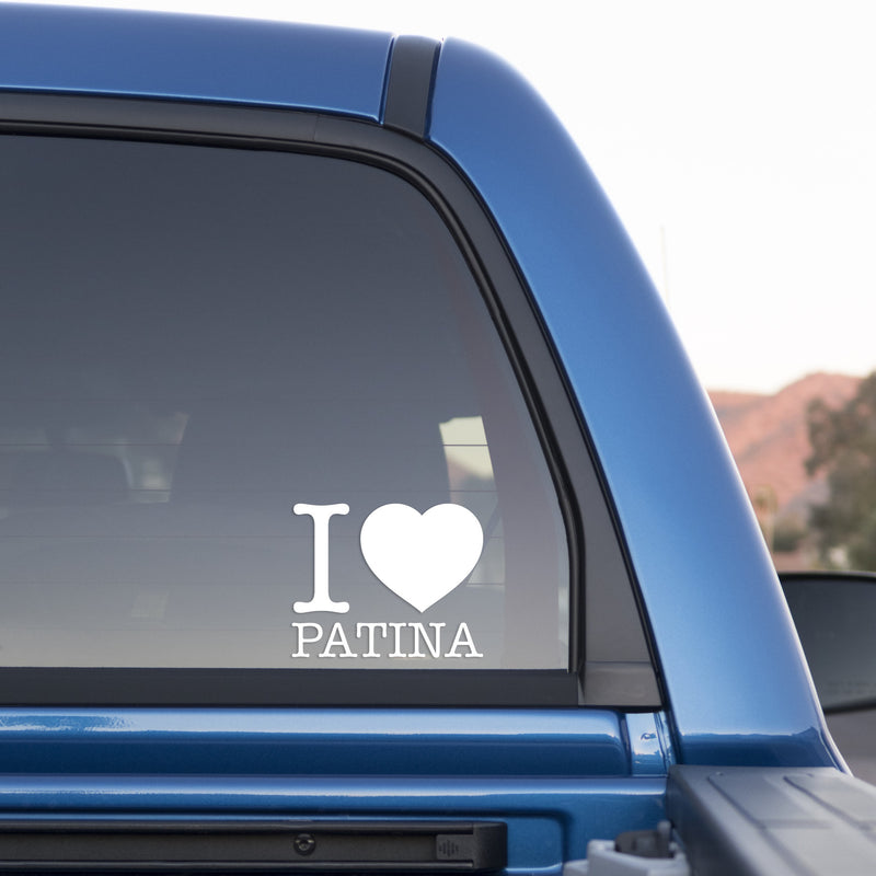 I Love Patina Sticker for Cars and Trucks - Whipps Sticker Co.