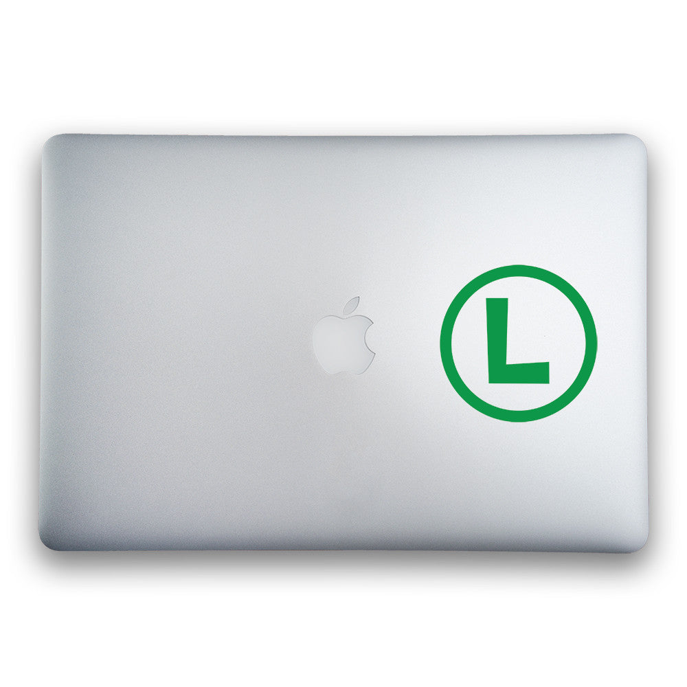 Luigi Logo Sticker, 4-inches Round - Whipps Sticker Co.