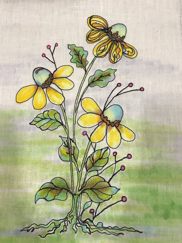 Or Click On The Picture Of These Daisies, Now They Have Been Painted, To  See How You, Too, Can Learn About Painting Successfully On Fabric.