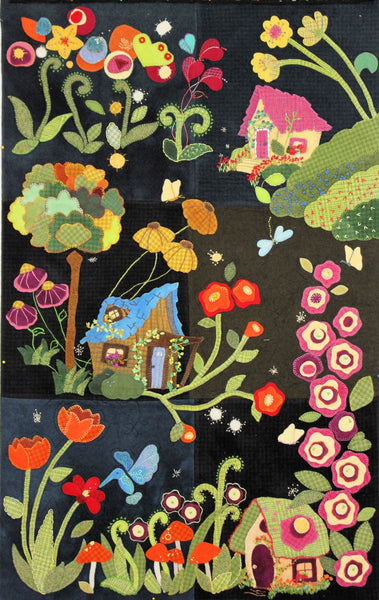 Block Of The Month My Blue Heaven Wool Applique Trish