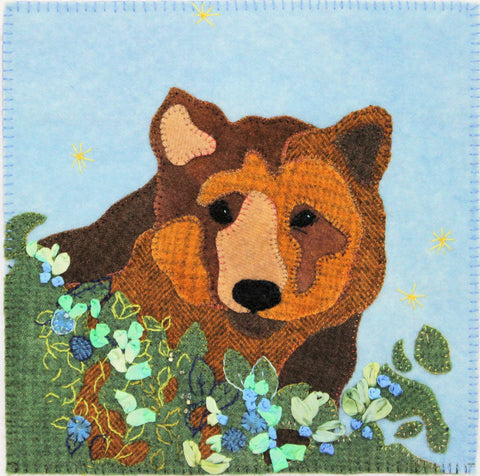 Grizzly bear in the blueberry patch