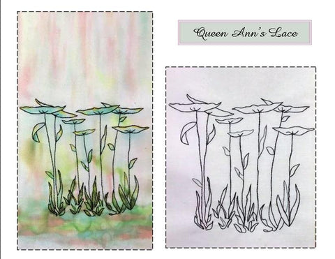 Queen Ann's Lace digitized embroidery