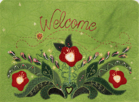 Welcome - - Wool Applique