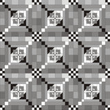 black and white image of queen size quilt pattern showing the 9 oversize blocks so you can visualize it in your own colors.