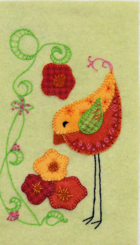 Feathers and Flowers – Wool Applique