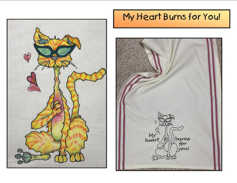 Heart-Burn digitized embroidery