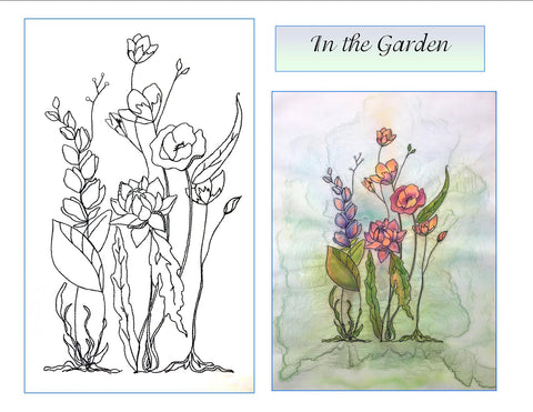 In the Garden digitized embroidery