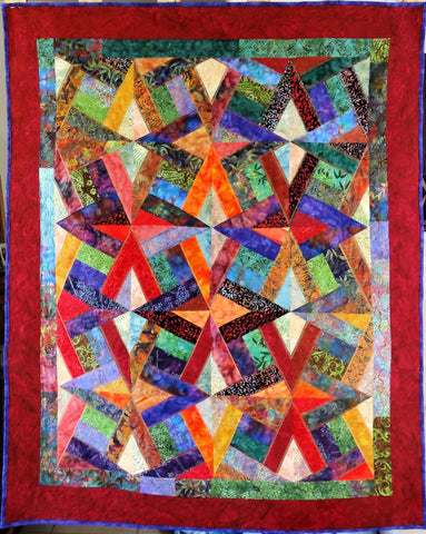 Interlaced Diamonds Lap Quilt