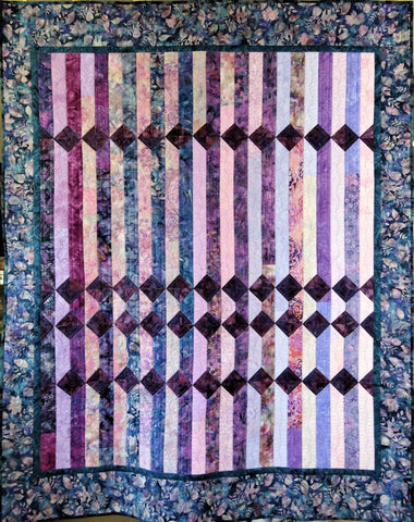 Pieced Fence Lap Quilt