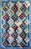 Hollyhocks lap quilt