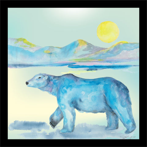 Polar Bear Fabric Panel