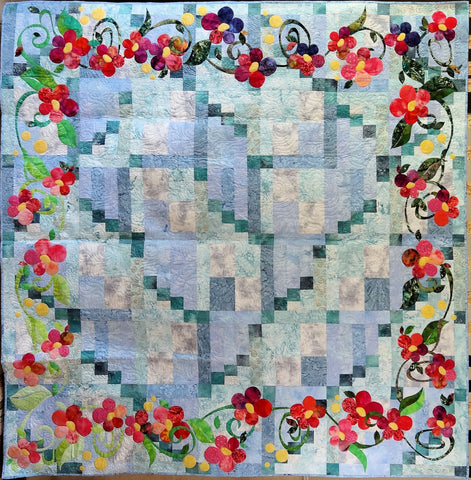 A closer look at the queen size quilt.