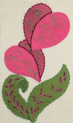 Valentine's Flower – Wool Applique