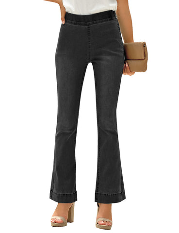 Women's High Rise Flared Denim Pants