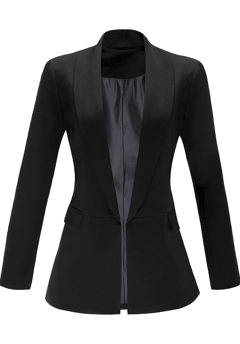 f95c3b910a3 Women s Casual Work Office Open Front Notched Lapel Blazer Jacket Suit –  Grapent