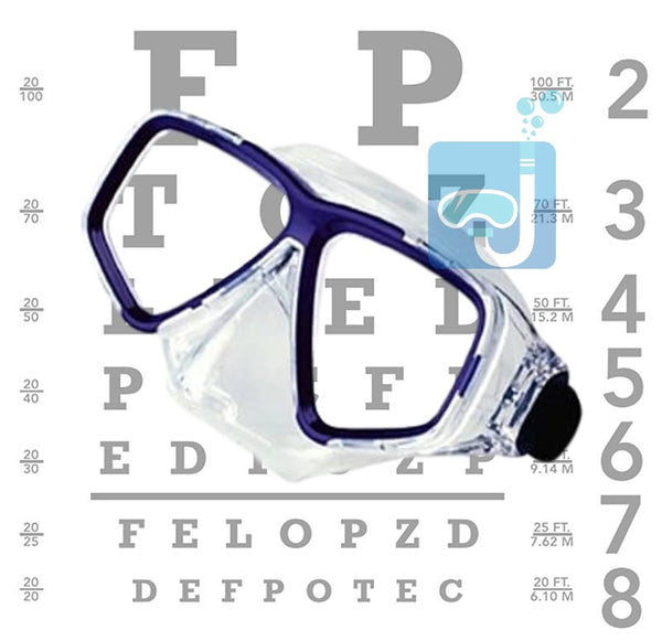 Deep See Clarity Mask with Diopters Optic Lens