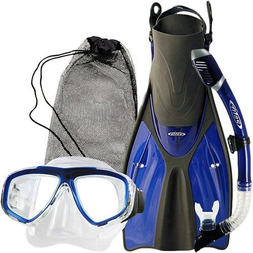 blue mask snorkel fins for big feet