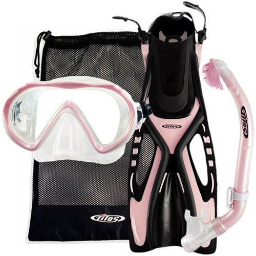 youth pink snorkeling set