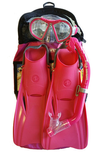 US Divers Kids Toucan Mask, Dry Snorkel, Breaker Fins