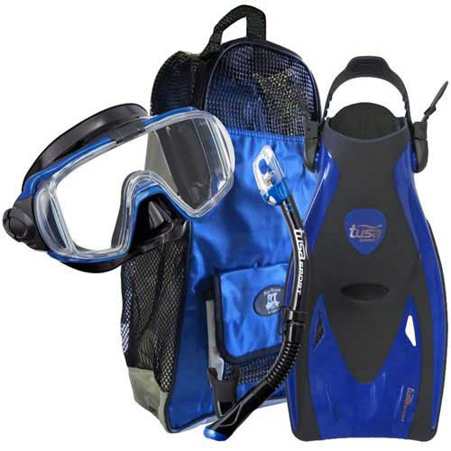 Blue Traveling Snorkeling Gear
